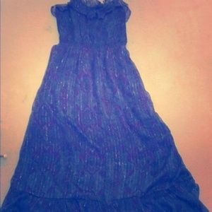 Express exotic peacock Purple vacation dress - NWT